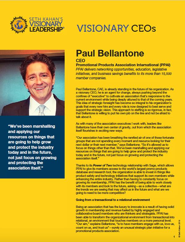 Paul Bellantone - Visionary CEO