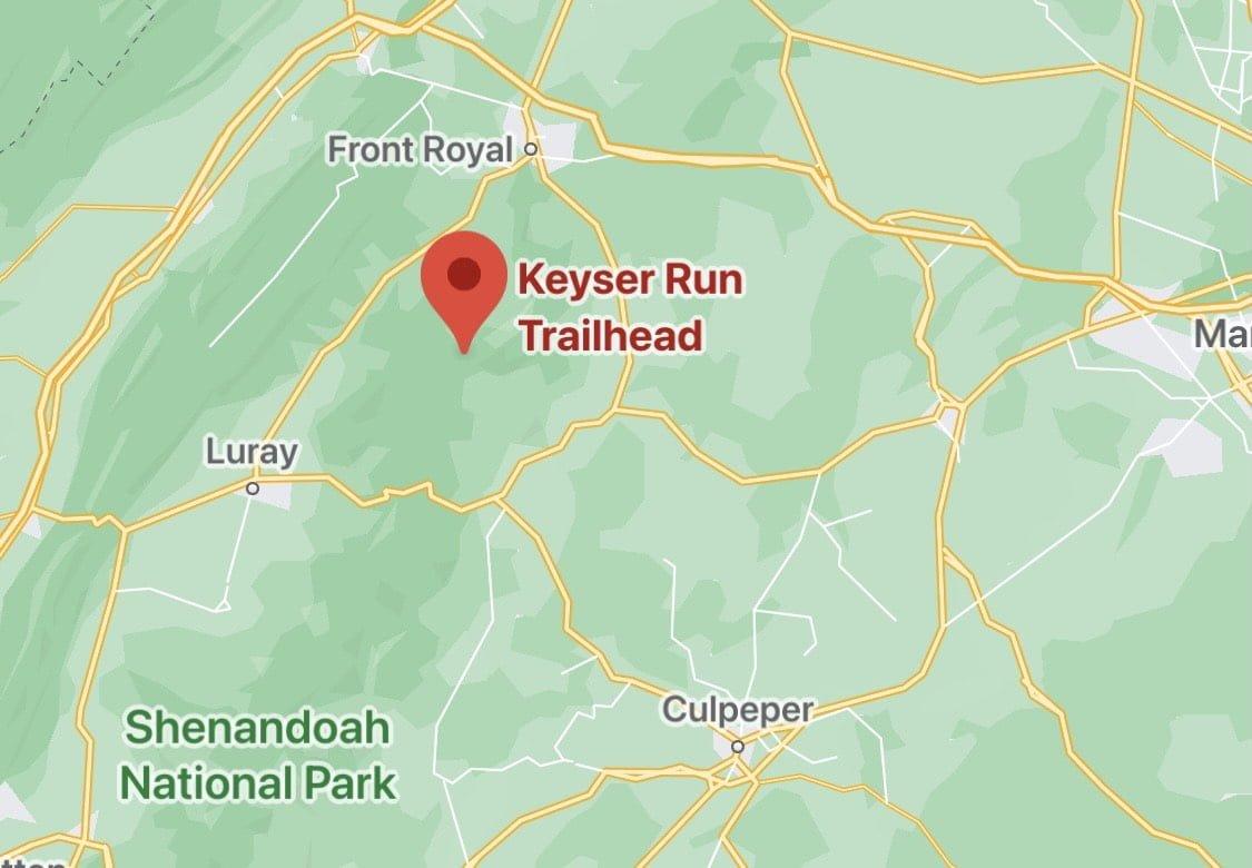 Keyser Run Trailhead